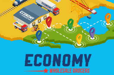Map Depicting the Export of Economy Wholesale Products
